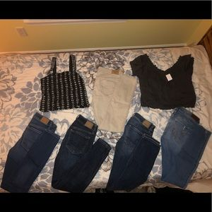 AE Jean bundle! Sizes vary 0-2